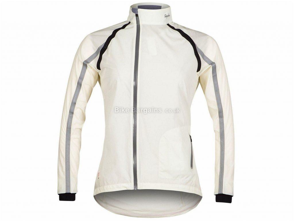 Rapha Ladies Classic Wind Jacket L, White, Long Sleeve