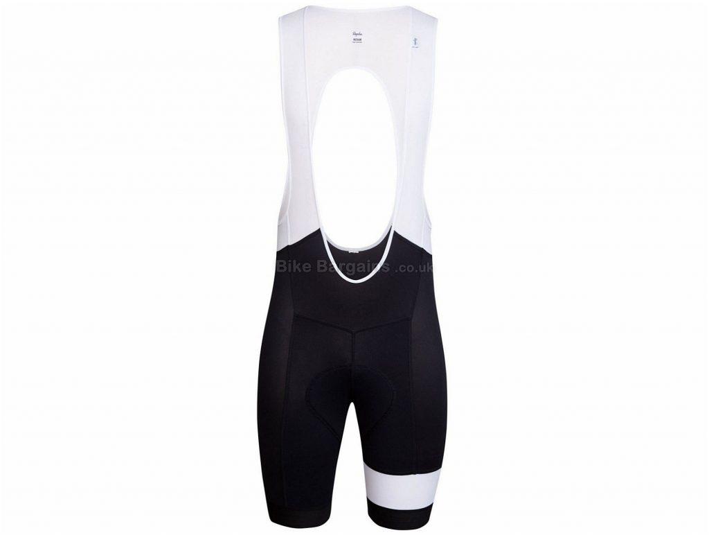 Rapha Lightweight Regular Bib Shorts XS, Black, White
