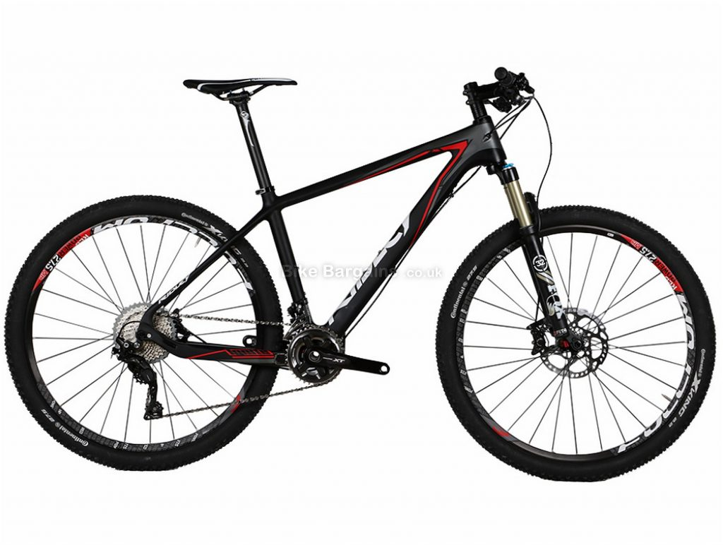 "Ridley Ignite CSL 7.1 XT Carbon Hardtail Mountain Bike M, Black, Red, 27.5"", Hardtail, 22 Speed, Carbon, Disc"