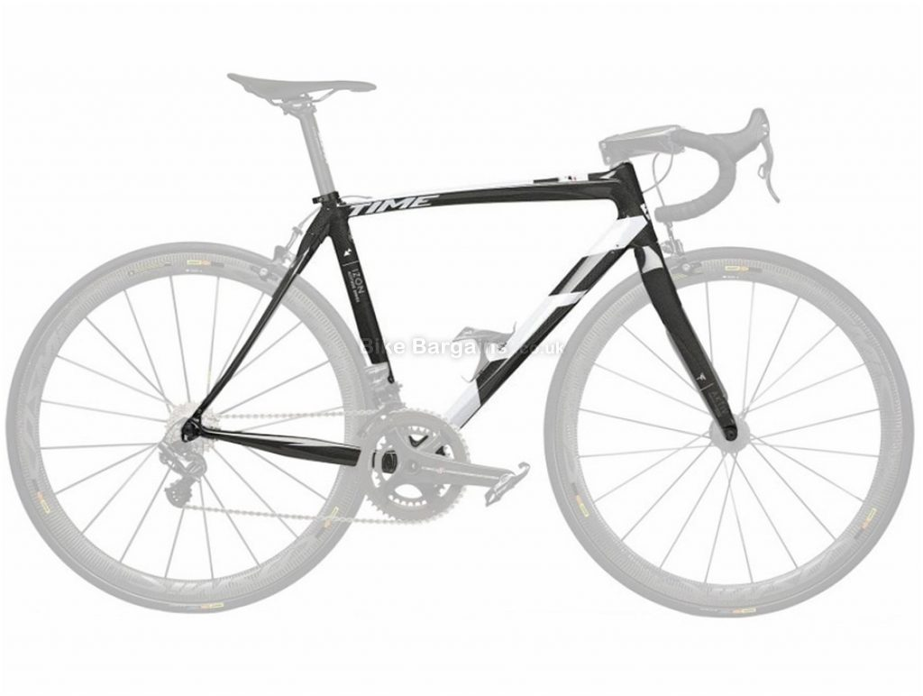 Time Izon Carbon Road Frame 2018 XL, Red, Black, Carbon, includes seatpost, forks and headset