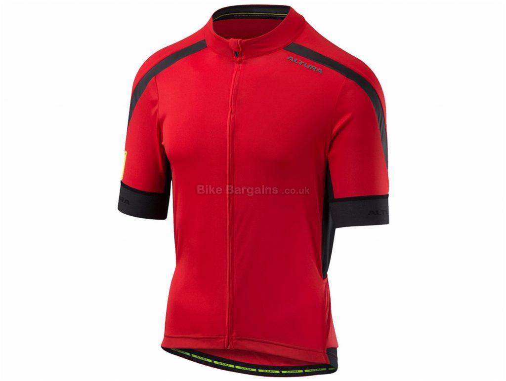 Altura NV2 Short Sleeve Jersey 2018 M, Red, Black, Yellow, Short Sleeve