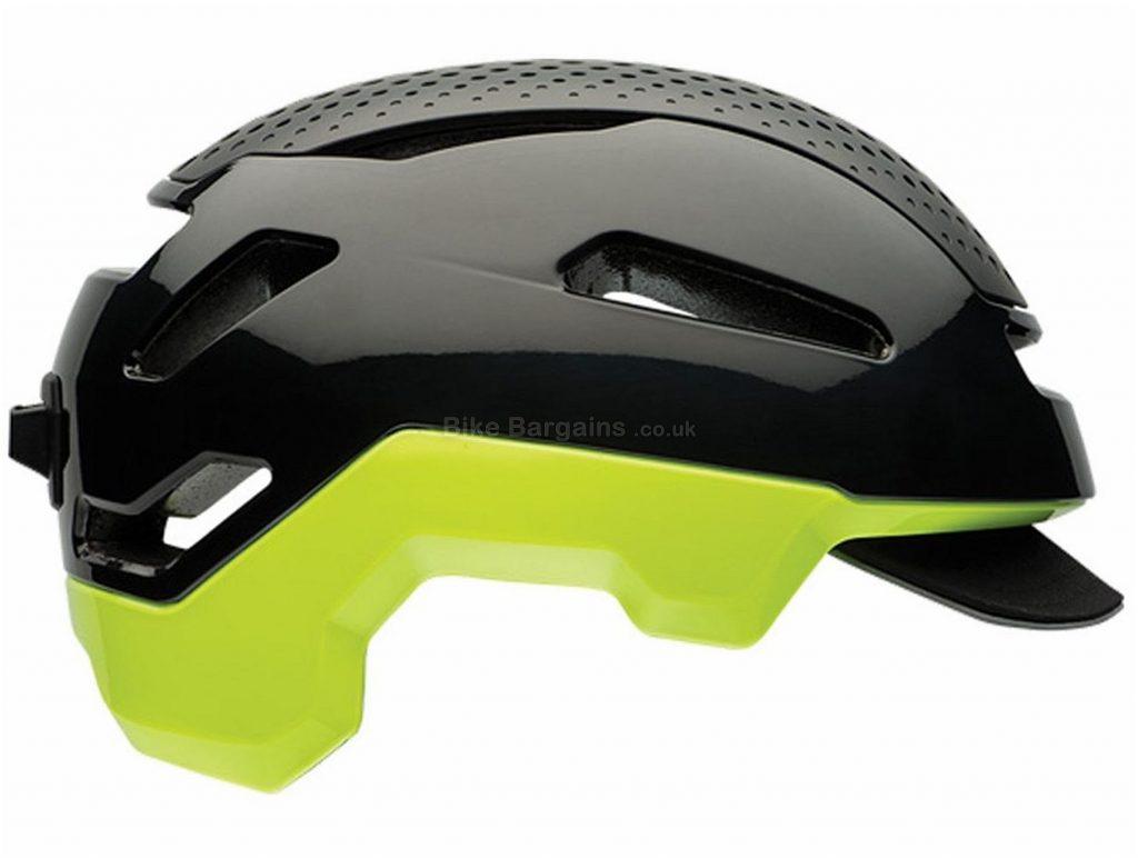 Bell Hub Road Helmet S, Black, Yellow, 18 vents, 330g