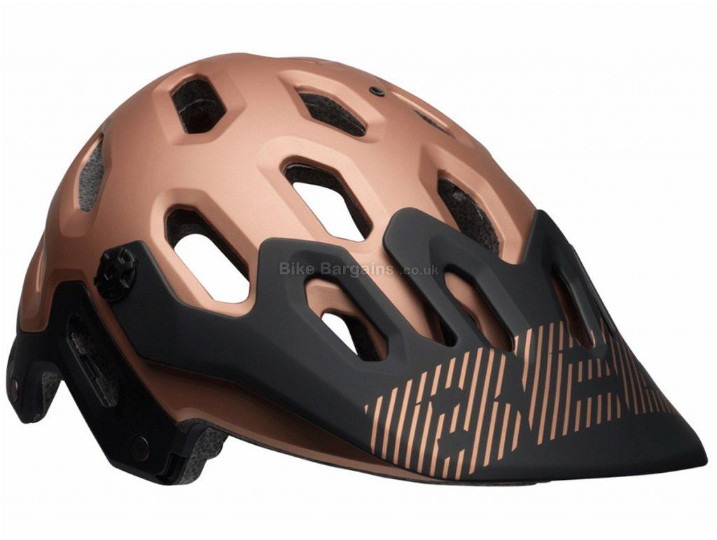 Bell Super 3 MTB Helmet 2018 L, Brown, Red, Black, White, 23 vents, 452g