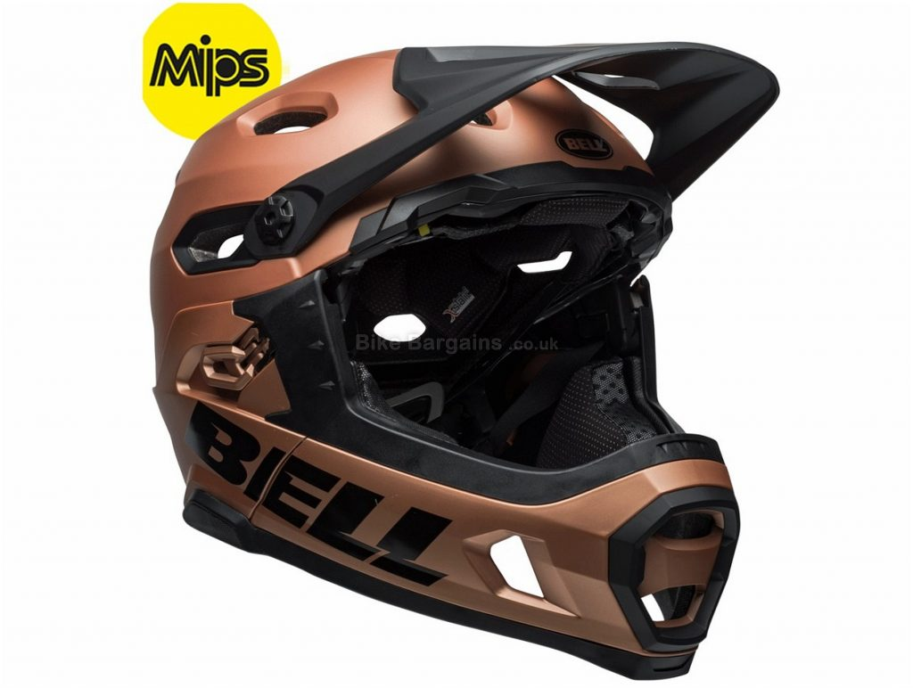Bell Super DH MIPS Full Face MTB Helmet 2018 L, Brown, Full Face, 19 vents, 891g
