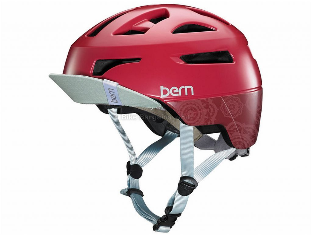 Bern Ladies Parker Commuter Helmet L, Red, 21 vents, 330g