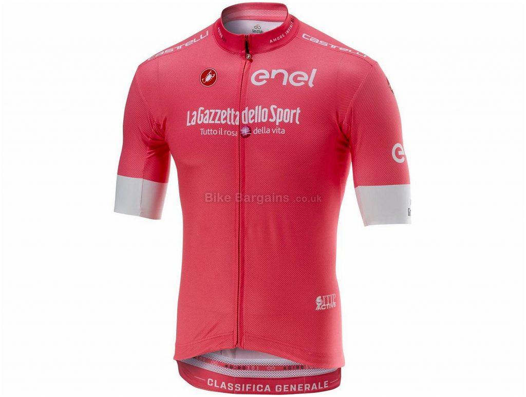 Castelli Giro Squadra FZ Short Sleeve Jersey M, Pink, Black, Purple, Short Sleeve