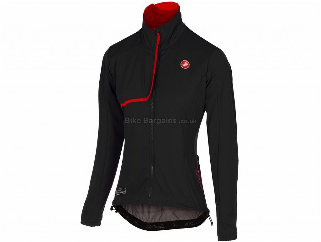 Castelli Indispensabile Ladies Jacket 2017 XS, Black, Red, Long Sleeve
