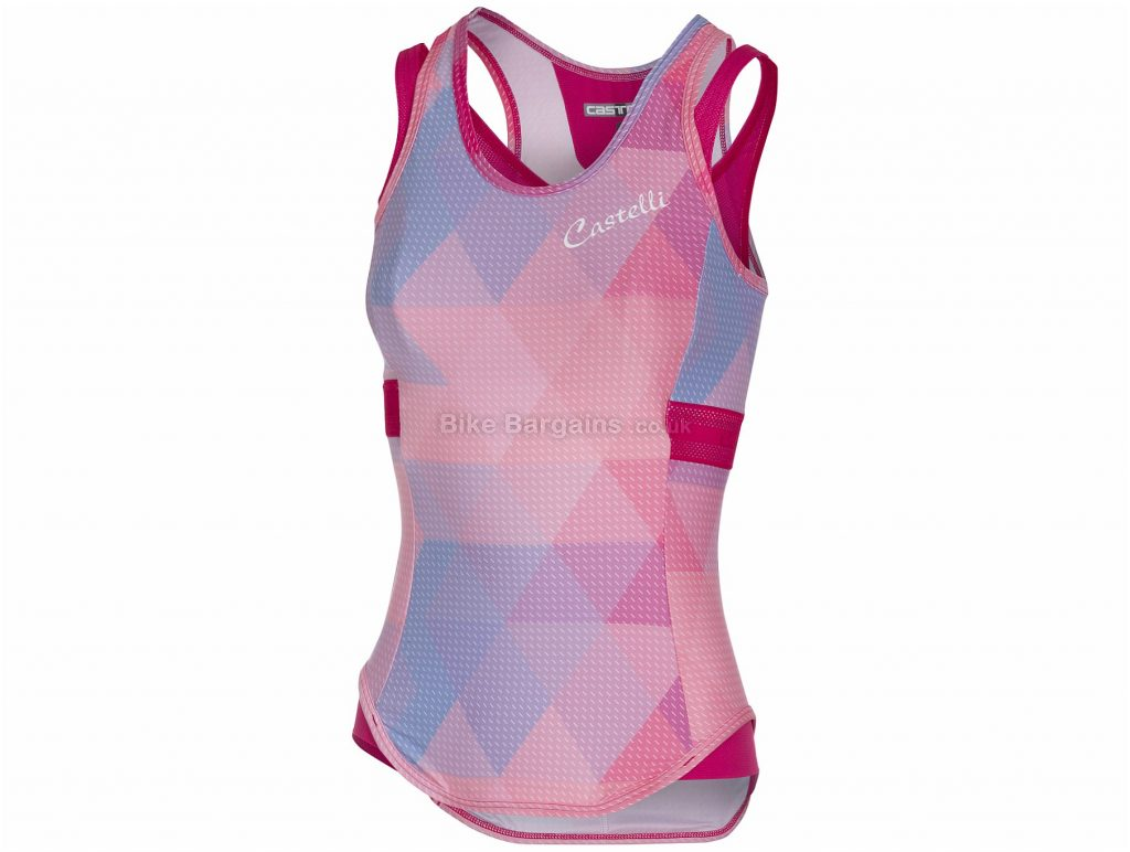 Castelli Ladies Alba Sleeveless Jersey S,L, Pink, Purple, Sleeveless