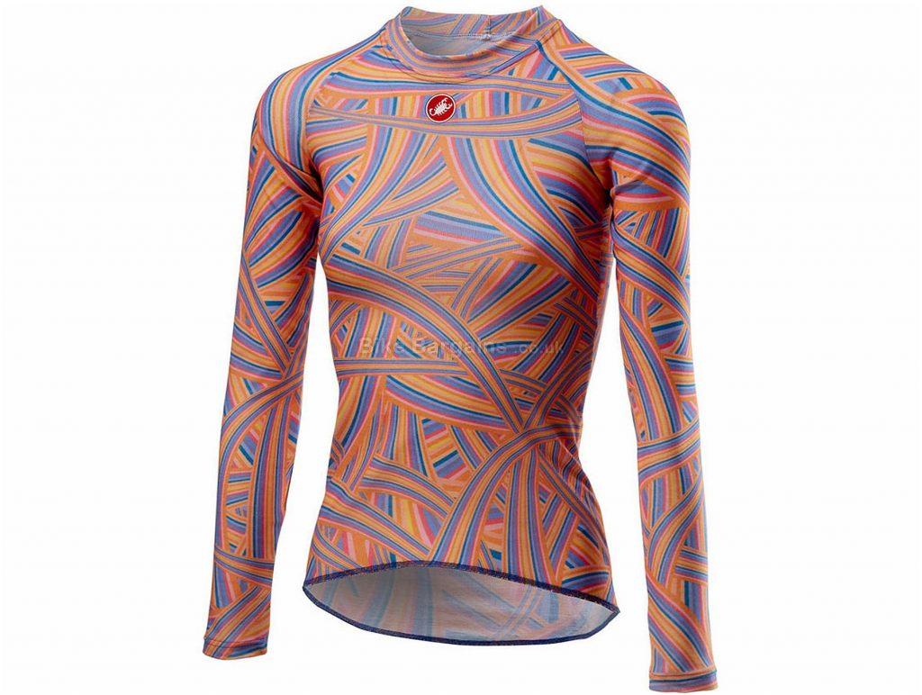 Castelli Ladies Prosecco R Long Sleeve Base layer S, Orange, Blue, Long Sleeve