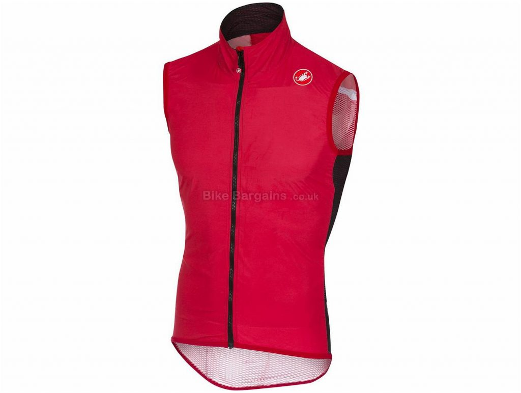 Castelli Pro Light Wind Gilet 2018 L, Red, Sleeveless, 81g
