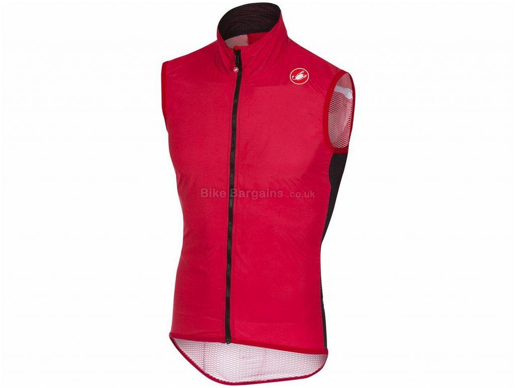 Castelli Pro Light Wind Gilet 2018 L, Red, Sleeveless, 81g