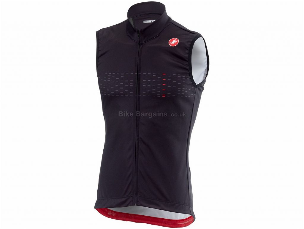 Castelli Thermal Pro Gilet 2018 M, Black, Red, Sleeveless