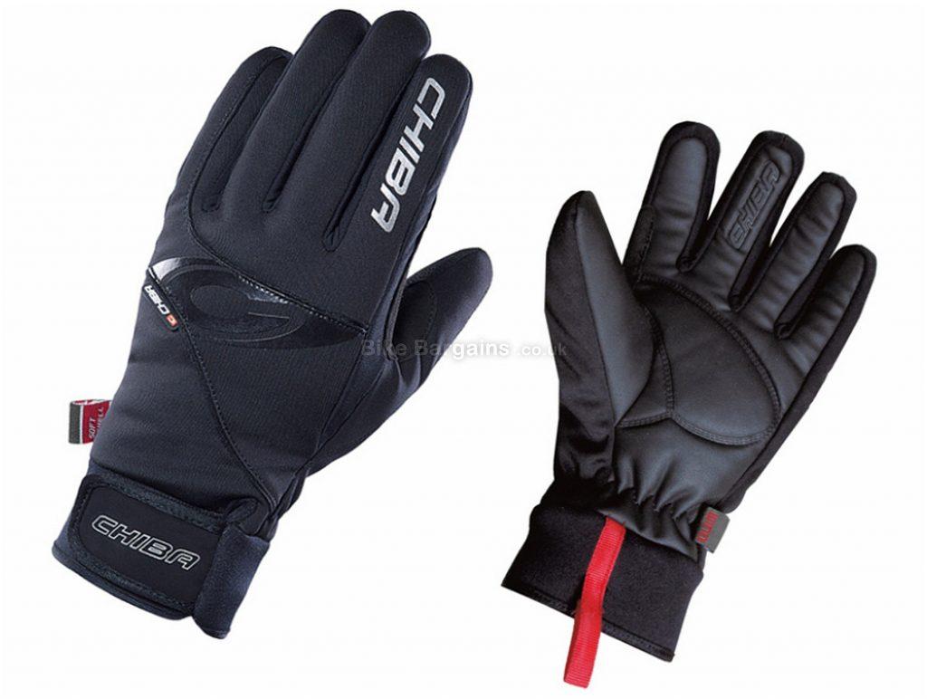 Chiba Classic Windstopper Winter Gloves S, Black, Full Finger