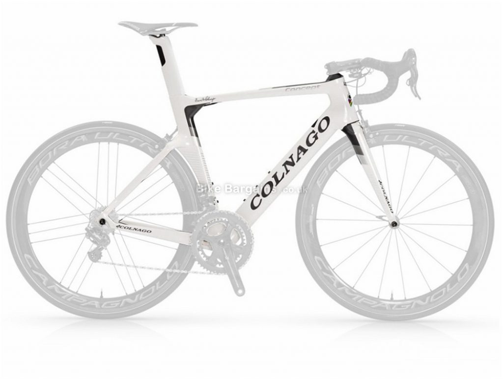 Colnago Concept Aero Carbon Road Frame 52cm, White,Black,Red, Carbon, Calipers