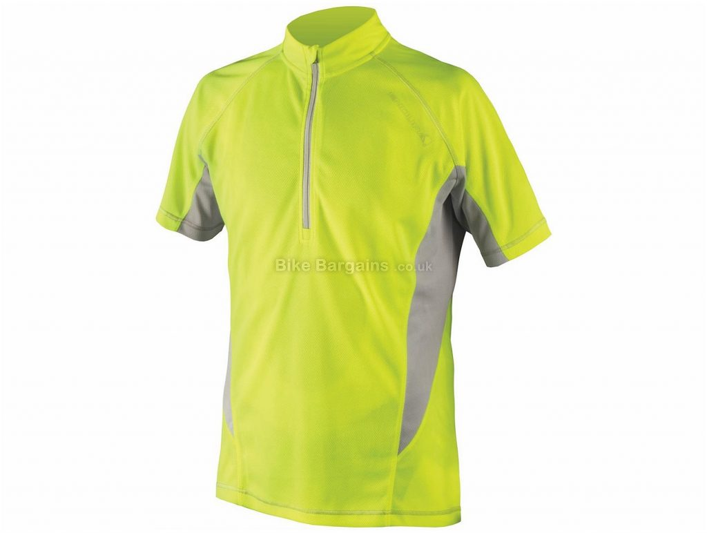 Endura Cairn Short Sleeve Jersey S,M,XL, Black, Red, Yellow, Short Sleeve