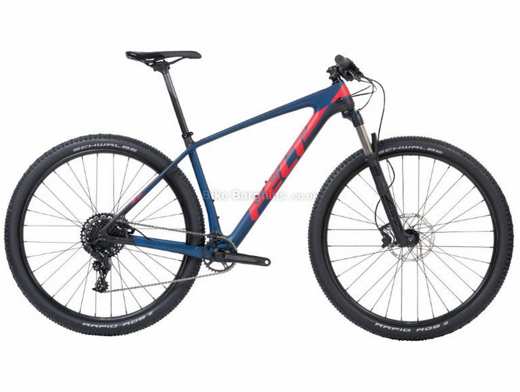 "Felt Doctrine 5 XC Carbon Hardtail Mountain Bike 2018 18"", Blue, Red, 29"", 11 Speed"