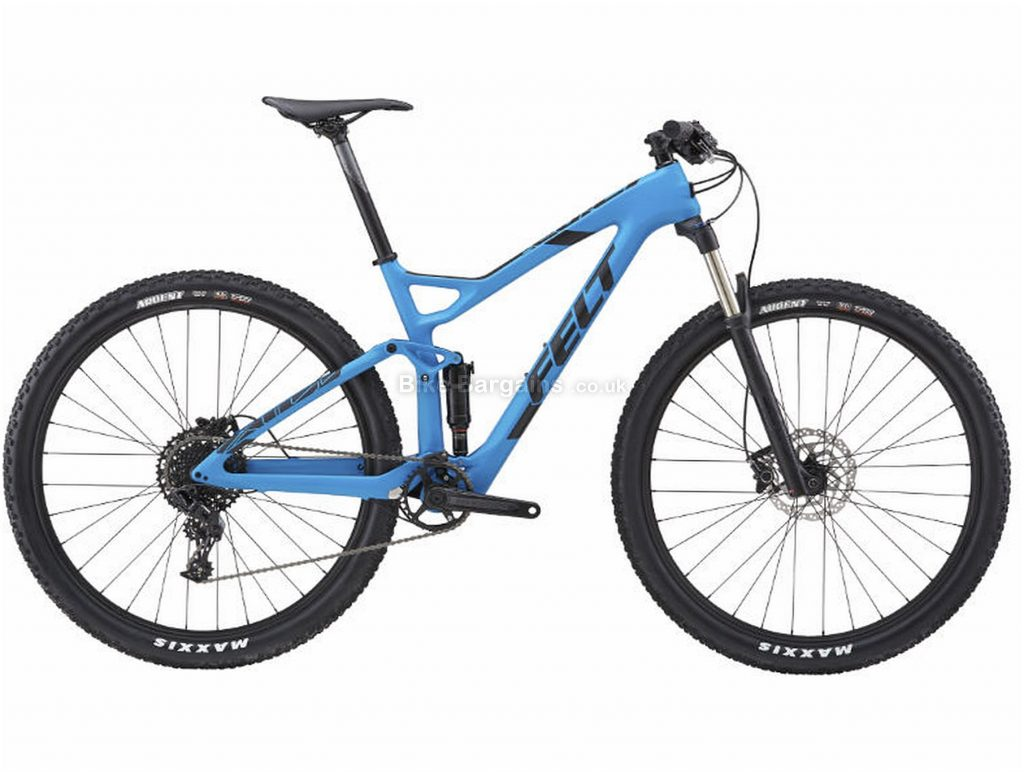 "Felt Edict 5 XC Carbon Full Suspension Mountain Bike 2018 18"", Blue, Black, 29"", 11 Speed"