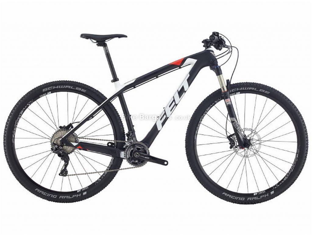 "Felt Nine 2 Carbon Hardtail Mountain Bike 2017 20"", Black, 29"", 11 Speed"