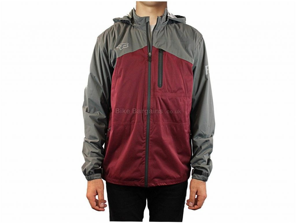 Fox Clothing Ys City Slicker Jacket S,M,L, Red, Grey, Long Sleeve