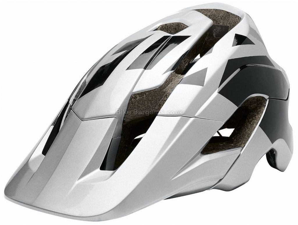 Fox Metah Thresh MTB Helmet XL,XXL, Silver, Black, 10 vents, 444g