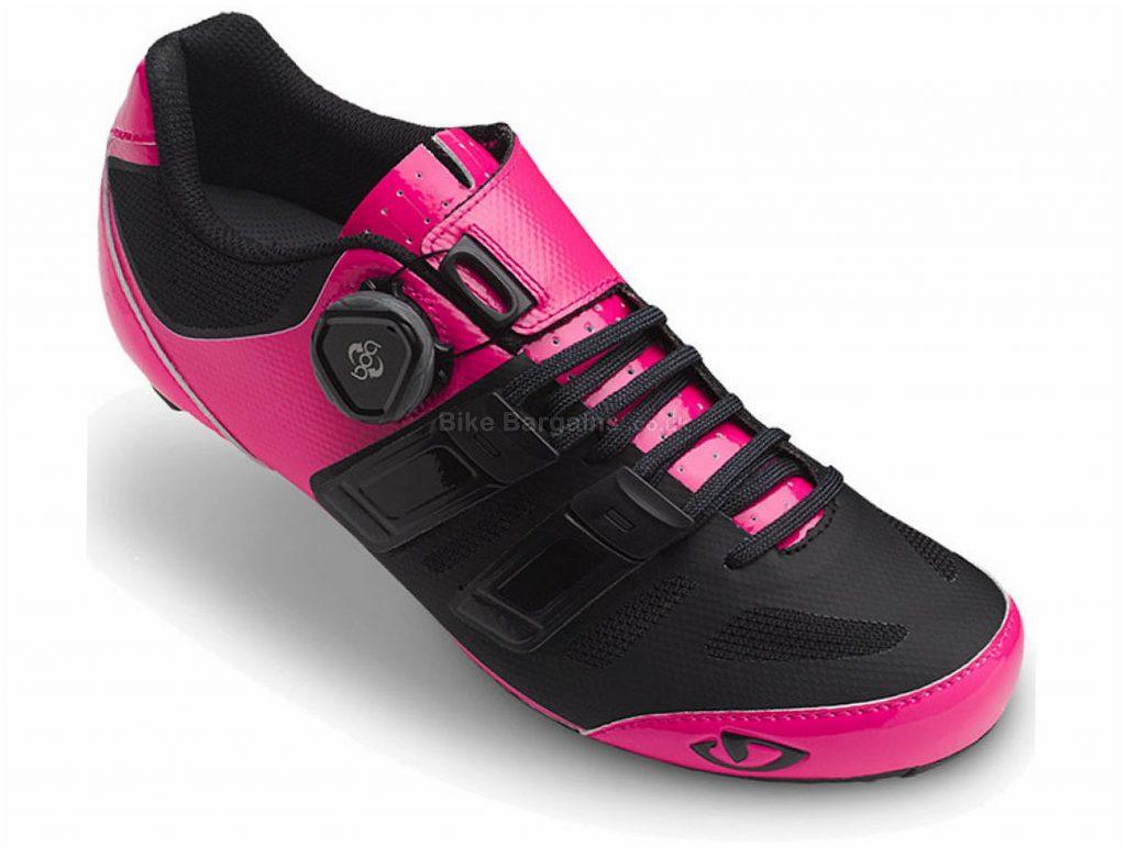 Giro Raes Techlace Ladies Carbon Road Shoes 37, Pink, Black, 230g, Carbon