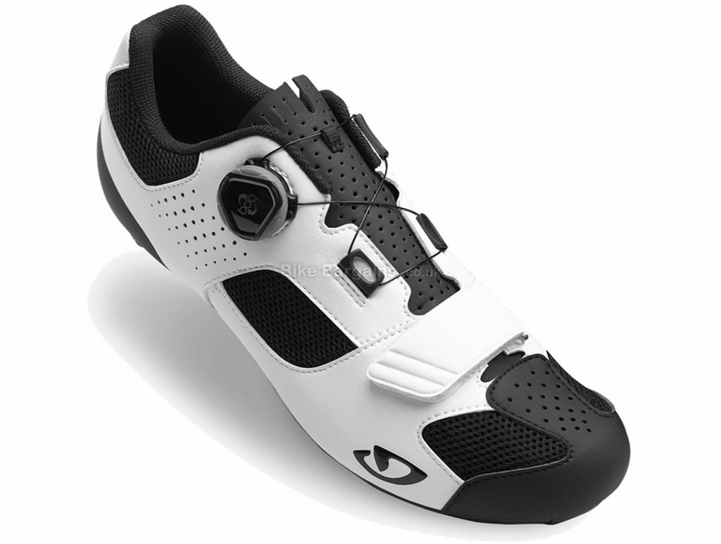 Giro Trans Boa Road Shoes 40, White, Black, Carbon, 265g