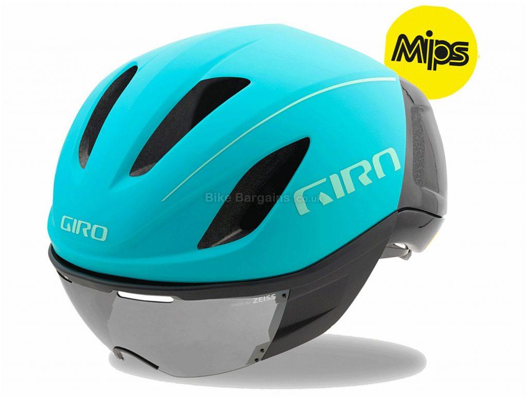 Giro Vanquish MIPS Aero Road Helmet 2018 L, Turquoise, Black, Grey, 10 vents, 305g