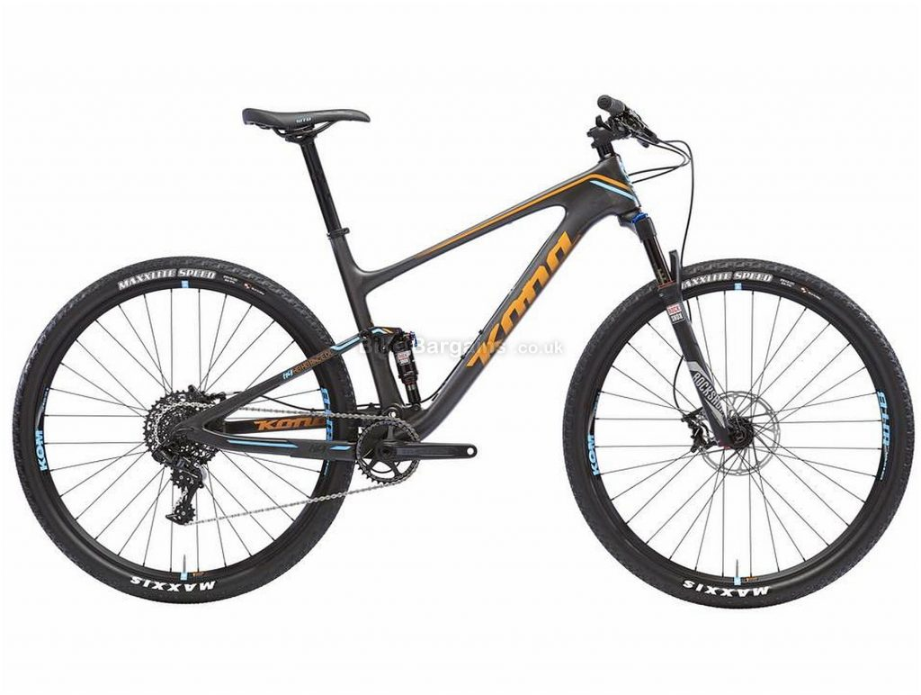 "Kona Hei Hei Race Deluxe Carbon Full Suspension Mountain Bike 2017 S, Black, Carbon, 29"", 11 Speed"