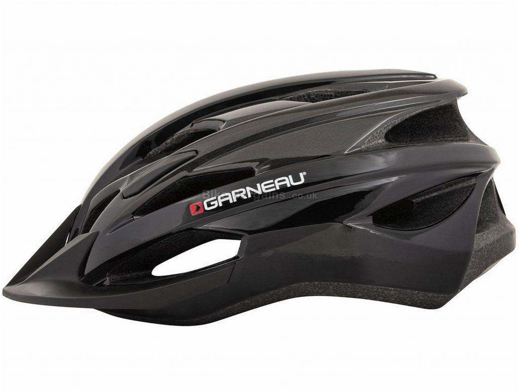 Louis Garneau Majestic XL MTB Helmet XL, Black, Grey, 14 vents