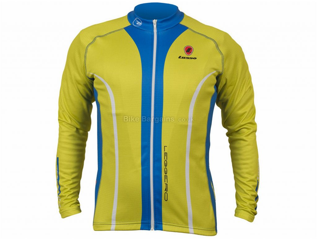 Lusso Leggero Long Sleeve Jersey S, Blue, Black, Yellow, Long Sleeve