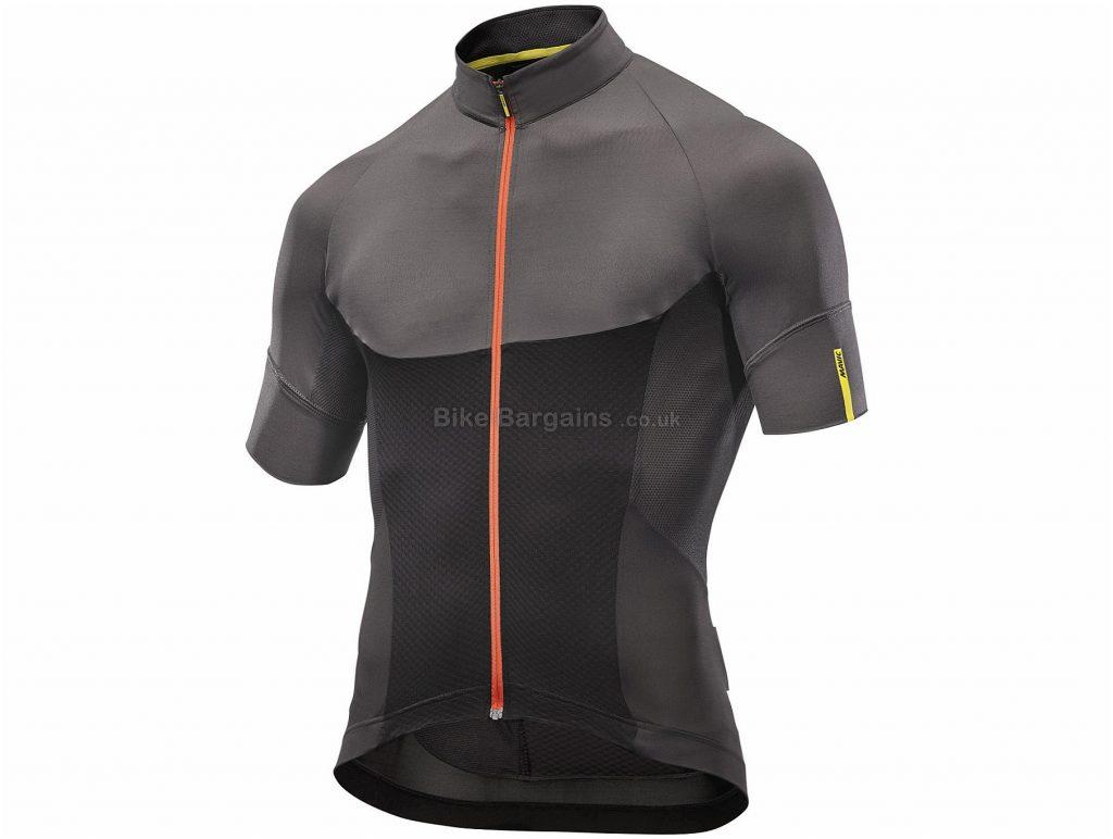 Mavic Ksyrium Pro Short Sleeve Jersey S, Black, Grey, Short Sleeve