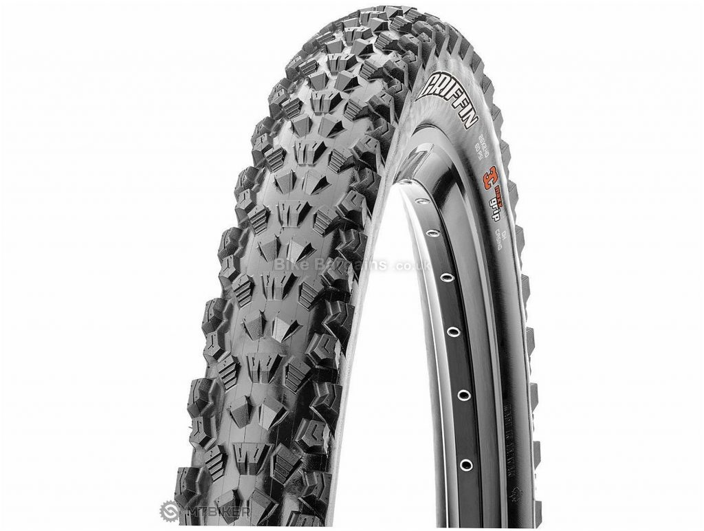 "Maxxis Griffin DH MTB Tyre 26"", 2.4"", 27.5"" are extra,Black, Wire"