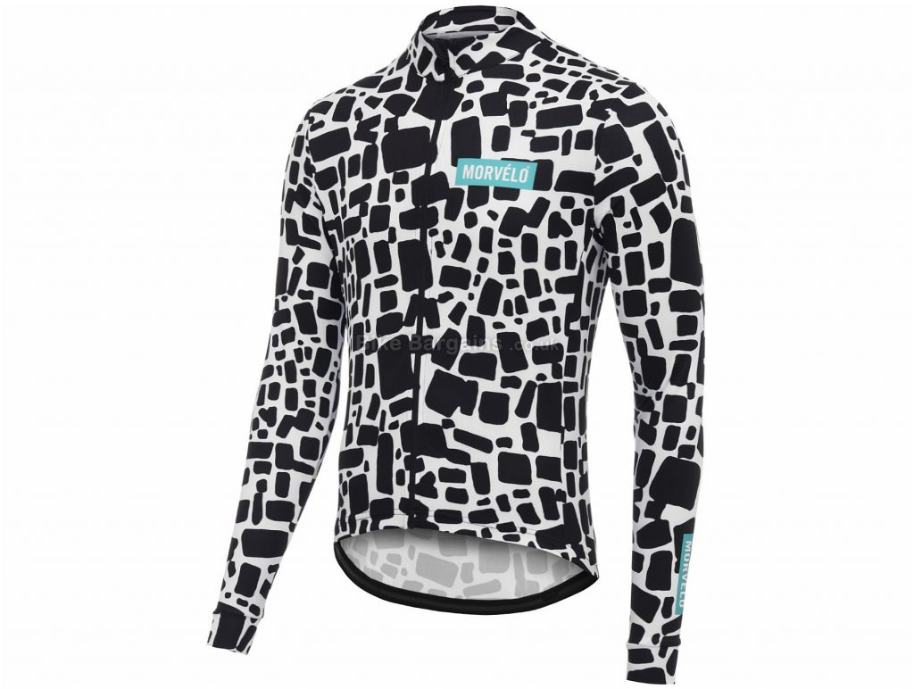Morvelo Daub Long Sleeve Jersey XL, Black, White