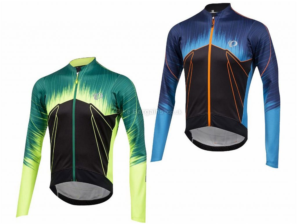 Pearl Izumi Pro Pursuit Wind Thermal Long Sleeve Jersey 2018 L, Green, Long Sleeve