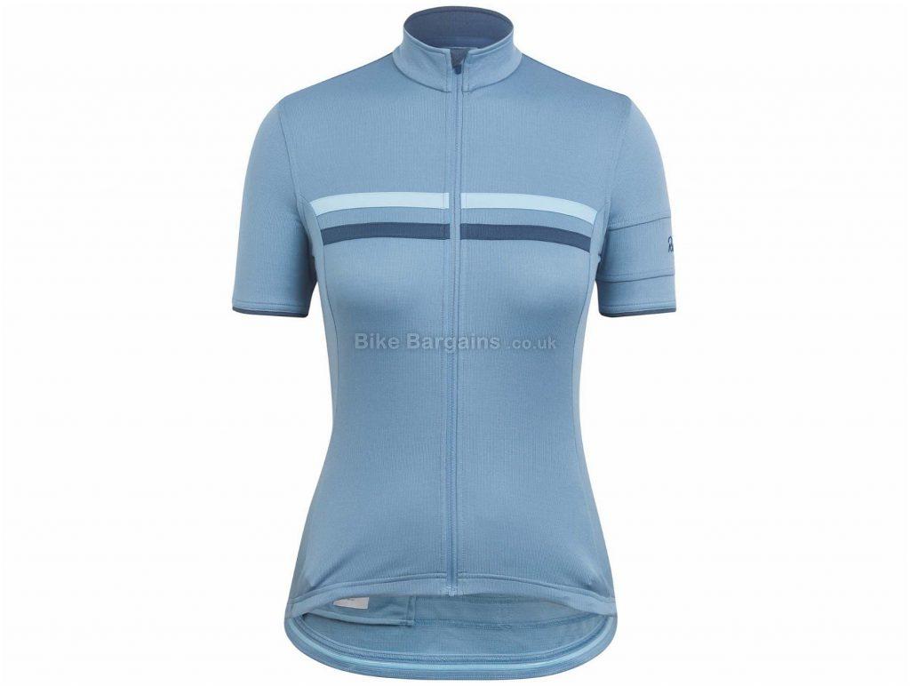 Rapha Ladies Brevet Short Sleeve Jersey XXS, Blue, Grey