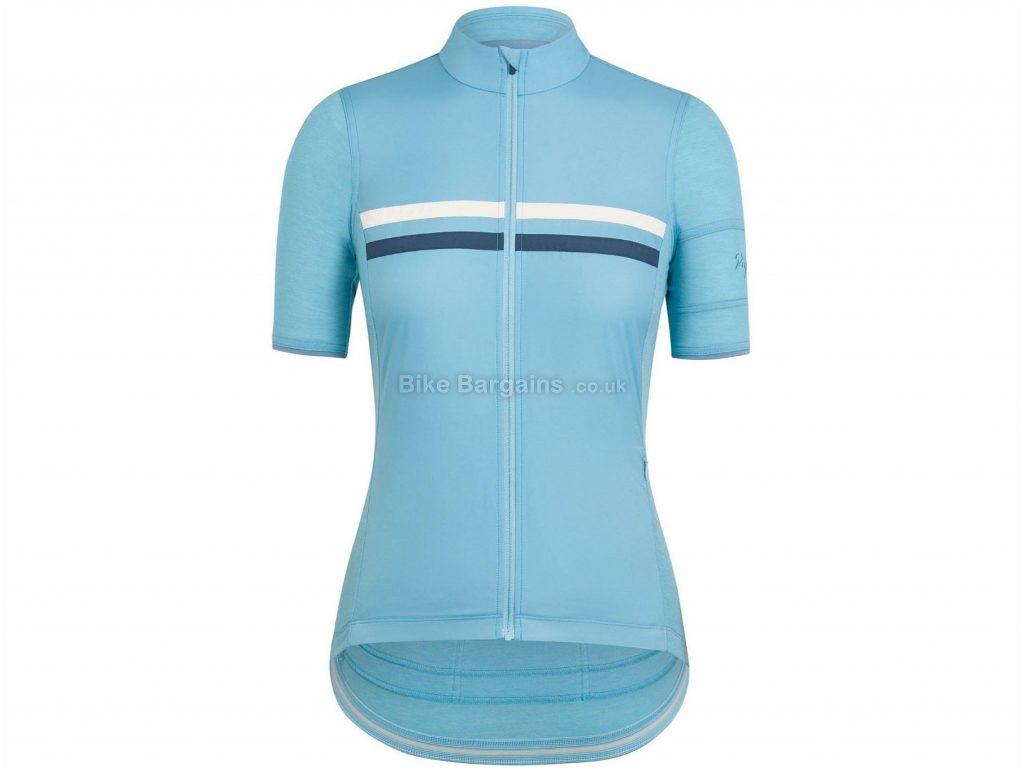 Rapha Ladies Brevet Windblock Short Sleeve Jersey XXS, Blue