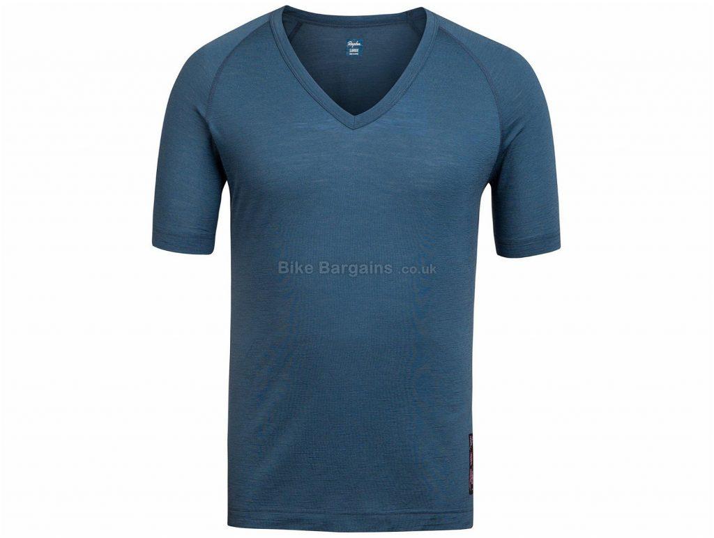 Rapha V-Neck Short Sleeve Baselayer XXS, Blue, White, Green, Grey, Pink, White
