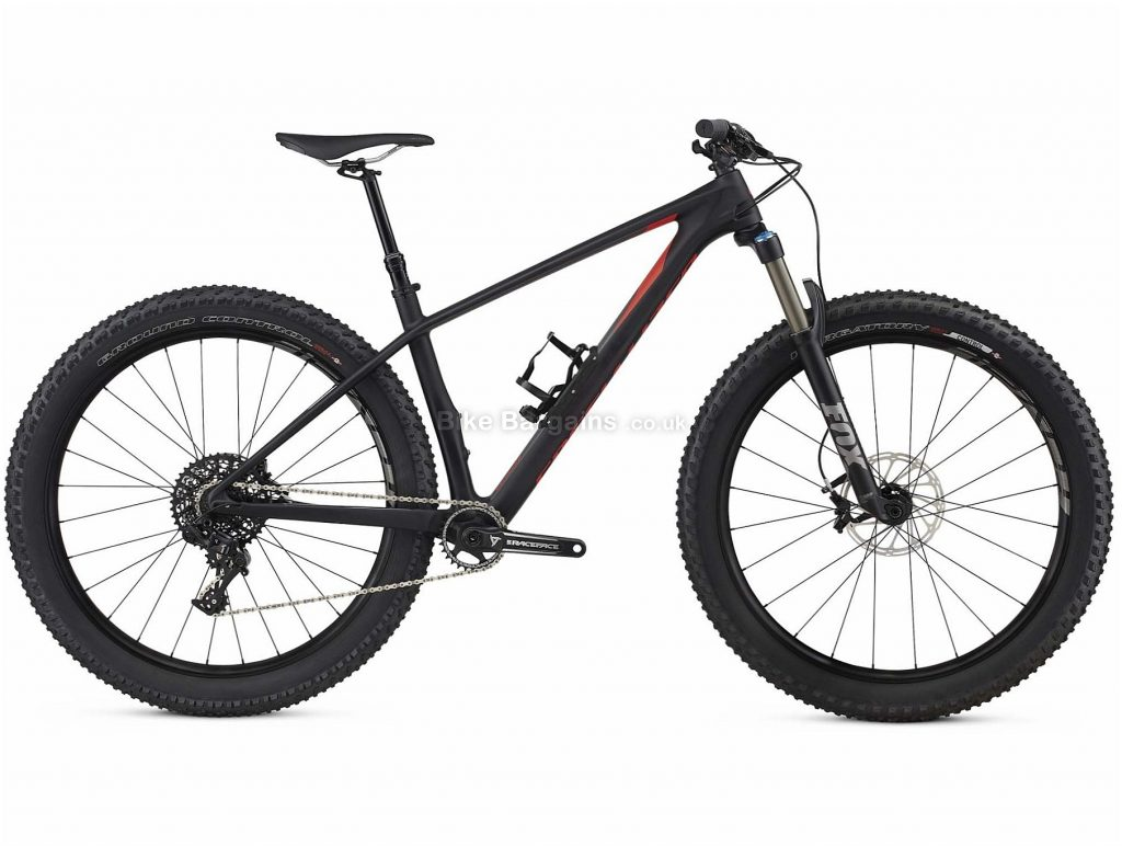 "Specialized Fuse Expert Carbon 6Fattie Hardtail Mountain Bike 2018 S,M, Black, Carbon, 27.5"", 11 Speed"