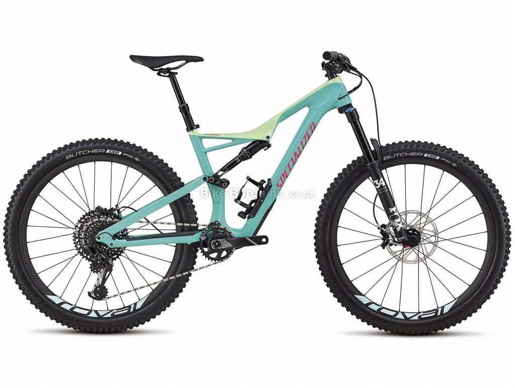 """Specialized Stumpjumper Expert Carbon 27.5 Full Suspension Mountain Bike 2018 M,L, Turquoise, Black, Carbon, 27.5"""", 12 Speed"""