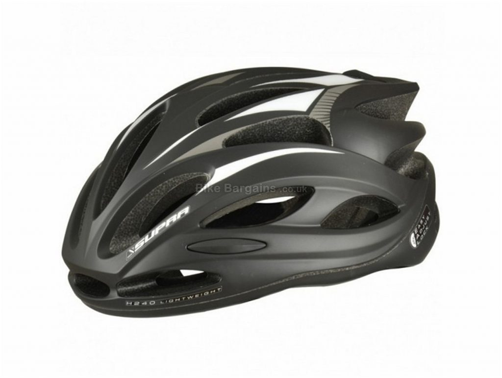 Supra H240 Lightweight Road Helmet M, Black, 265g, 24 vents