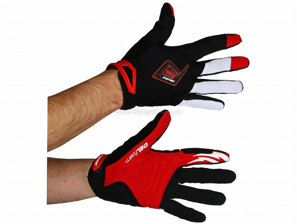 Time Colorado Full Finger MTB Gloves XXL, Black, White, Red, Full Finger