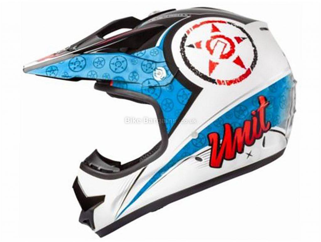 Unit X2.6 Linguistic Full Face MTB Helmet L,XL, Blue, Grey, Pink, Full Face, 1.1kg