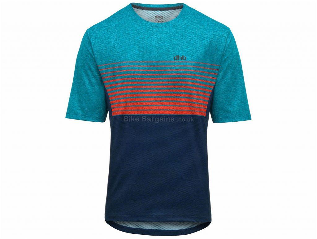 dhb Trail MTB Short Sleeve Jersey S, Blue, Black, Red, Short Sleeve