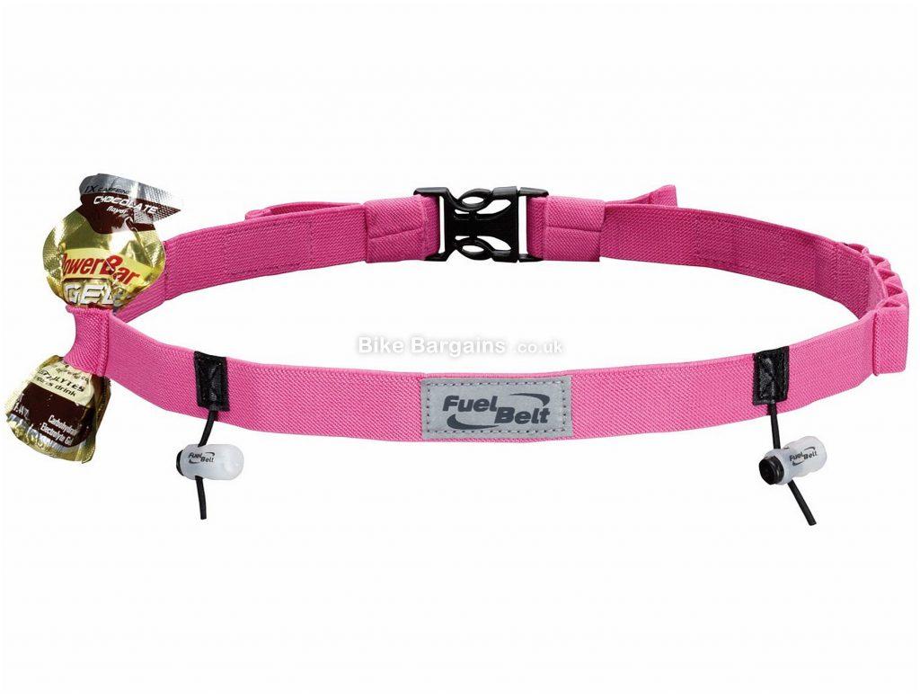 FuelBelt Gel Ready Race Running Belt One Size, Pink, holds 10 gels