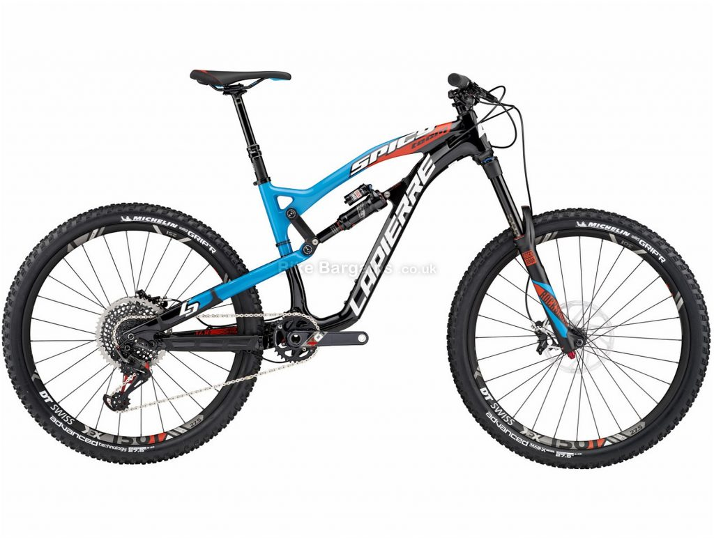 "Lapierre Spicy Team 27.5"" Carbon Full Suspension Mountain Bike 2017 L, Black, Red, Carbon, Full Suspension, 27.5"", 12 Speed"