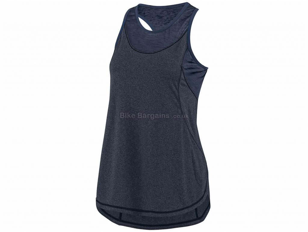 Louis Garneau Ladies Venice Sleeveless Vest XS,S, Blue, Black, Sleeveless