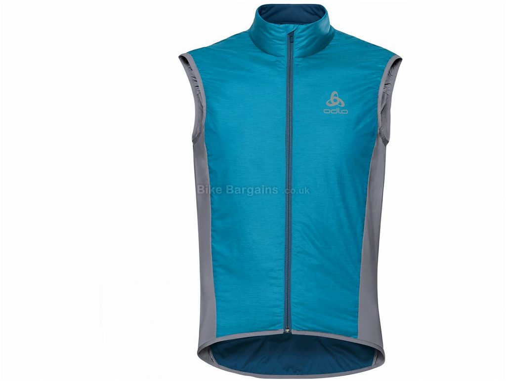 Odlo Zeroweight X-Warm Gilet S, Blue, Grey, Sleeveless