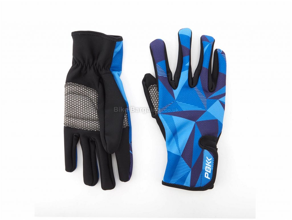 PBK Poligo Winter Gloves S,M,L, Black, Blue, Full Finger