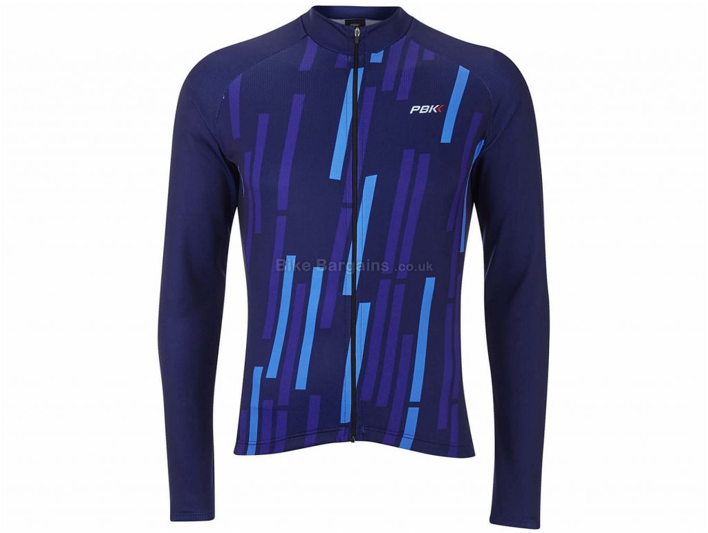 PBK Vello Winter Roubaix Long Sleeve Jersey L, Blue, Long Sleeve