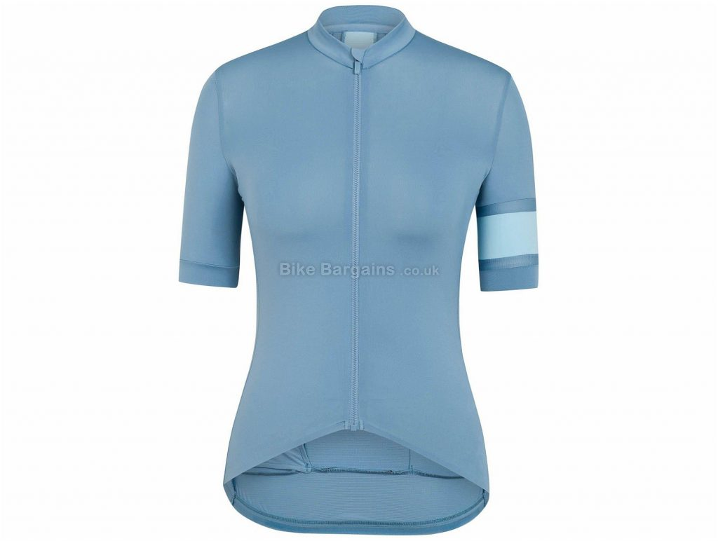 Rapha Ladies Souplesse II Short Sleeve Jersey 2017 XL, Grey, Blue, Short Sleeve
